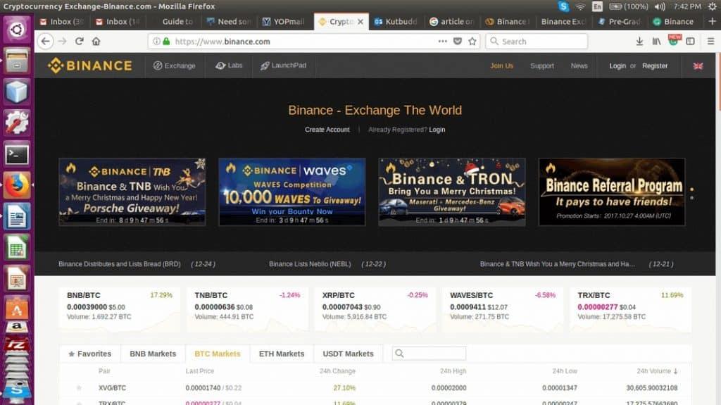 Binance Website