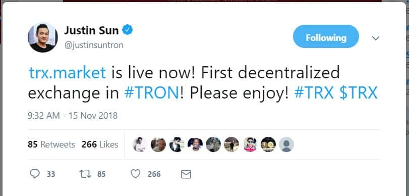 tron exchange