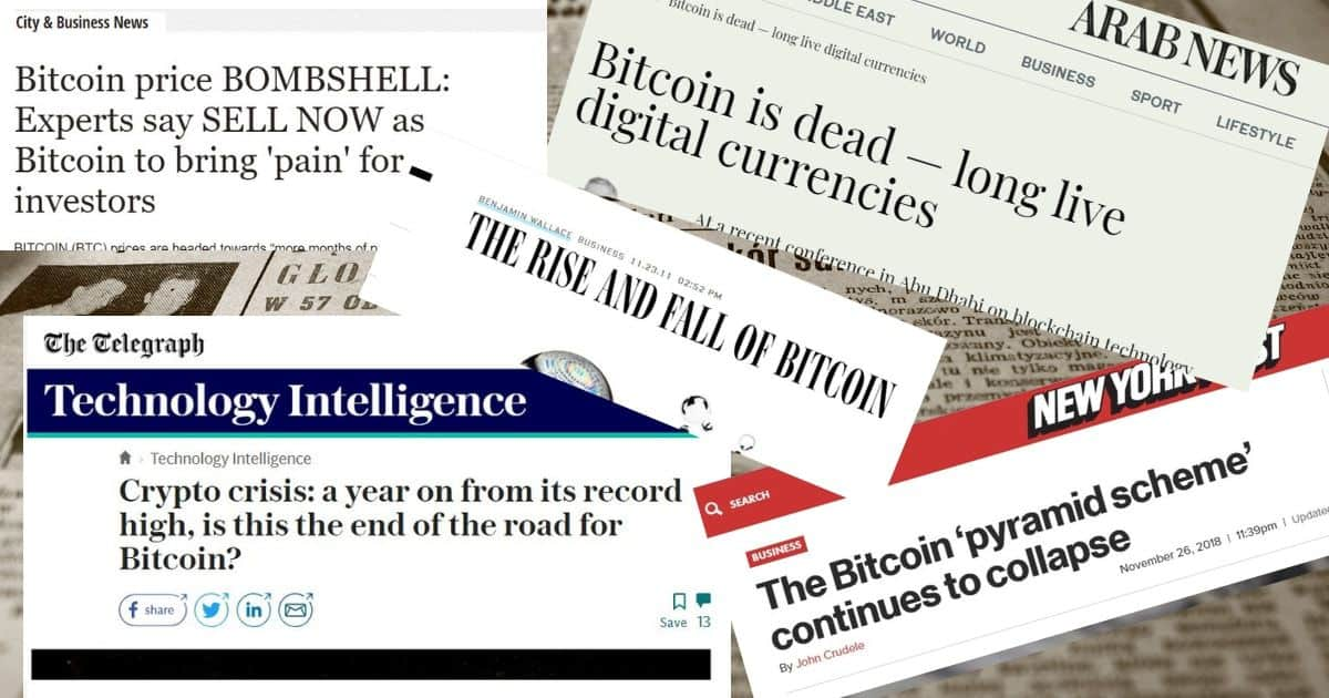 Mainstream media says Bitcoin is dead: is it time to buy?