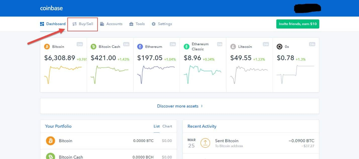 Coinbase sell bitcoin