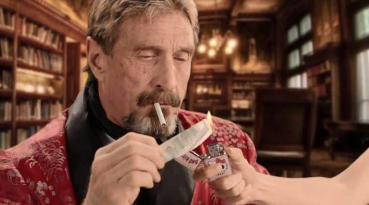 Ridiculous: McAfee Gives Away 10% Supply Of Epstein Didn't Kill Himself Token (WHACKD)