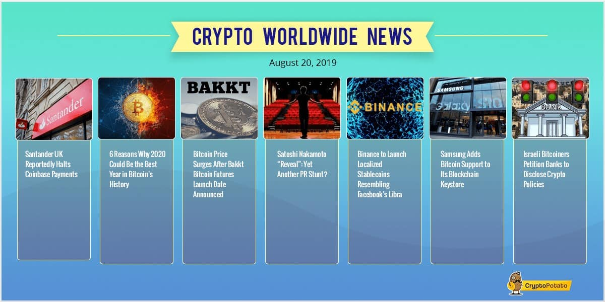 Weekly Crypto Market Update: Bullish News on Bakkt's Launch as Bitcoin Holds Steady Above $10,000