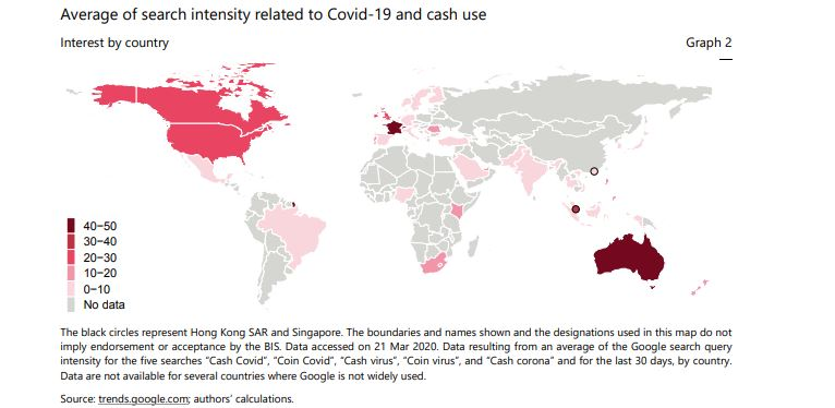 Cash/Virus searches by countries. Source: bis.org