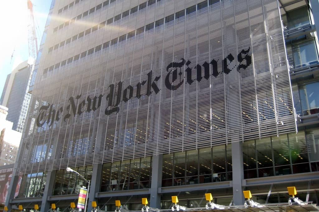 New York Times Building. Source: New York Times