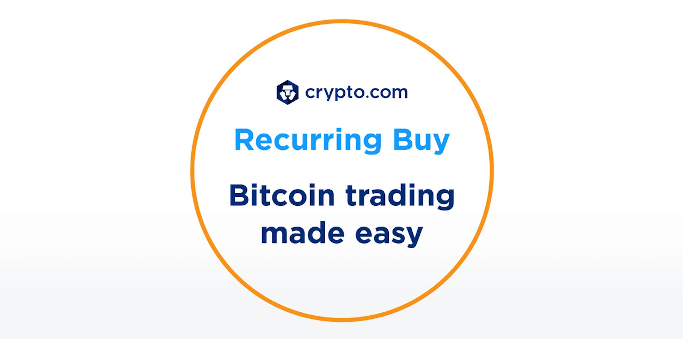 Recurring Buys On Crypto.com. Source: Crypto.com