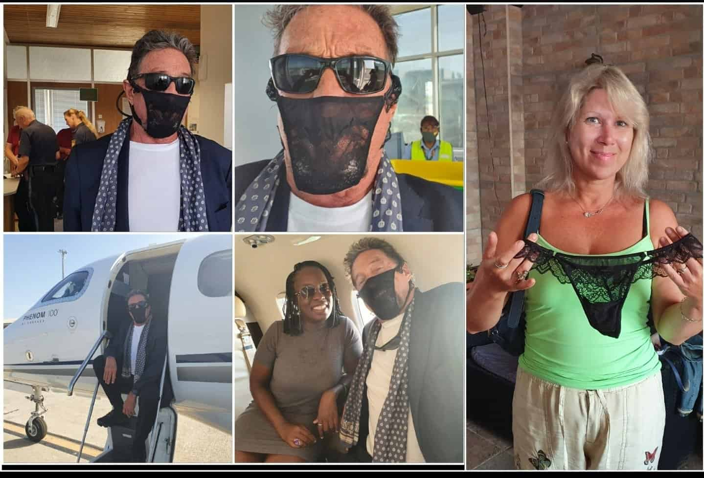 John McAfee Detained For His Coronavirus Mask. Source: Twitter