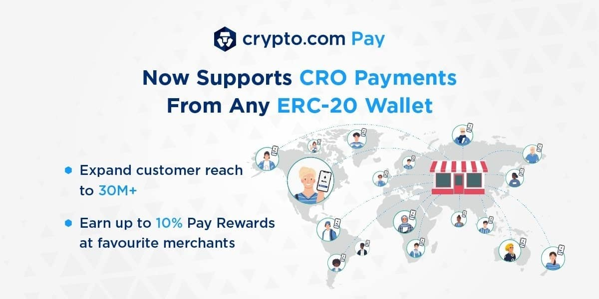 Crypto.com Pay Now Powers CRO Payments From Any ERC-20 Wallet