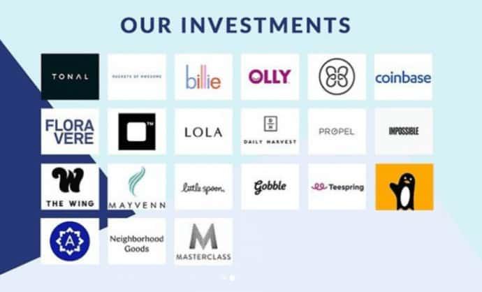 Serena Ventures Investments (2019). Source: SerenaVentures