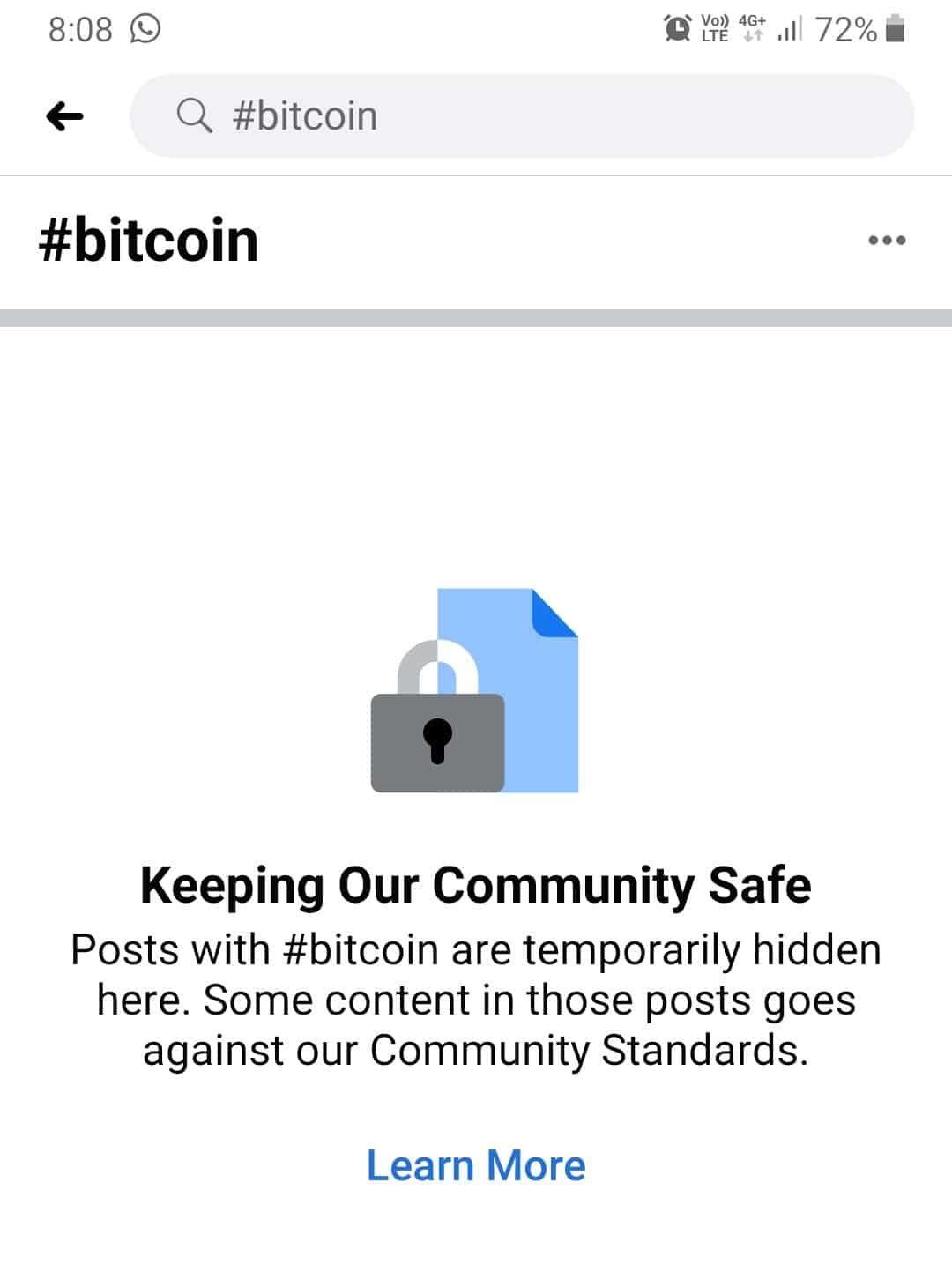 Facebook znovu cenzuruje obsah související s Bitcoinem