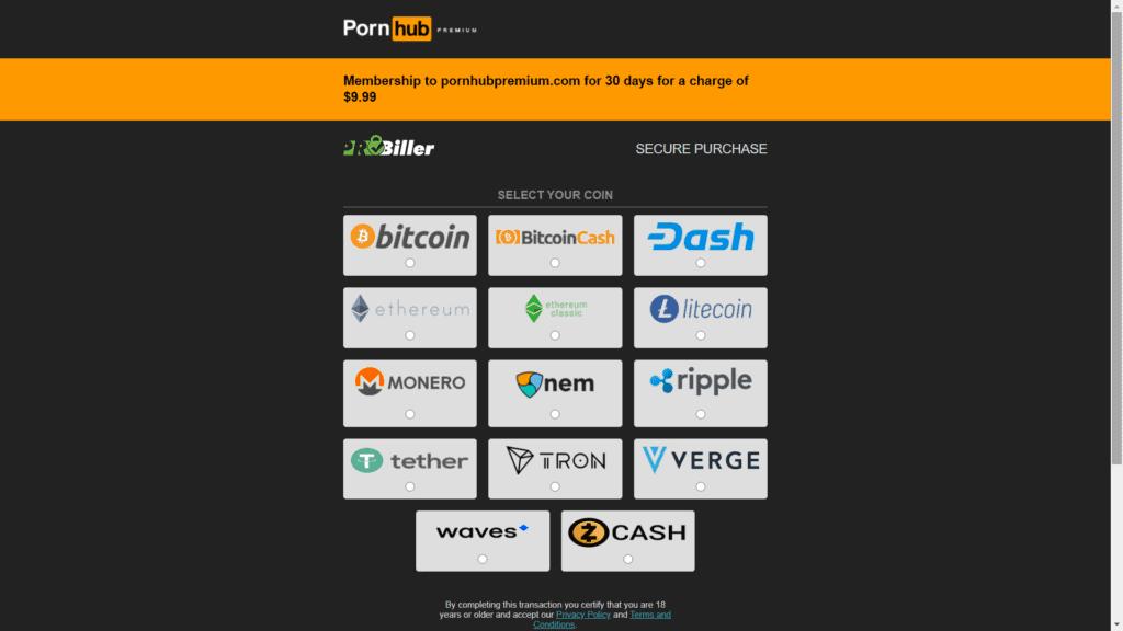pornhub's crypto catalog