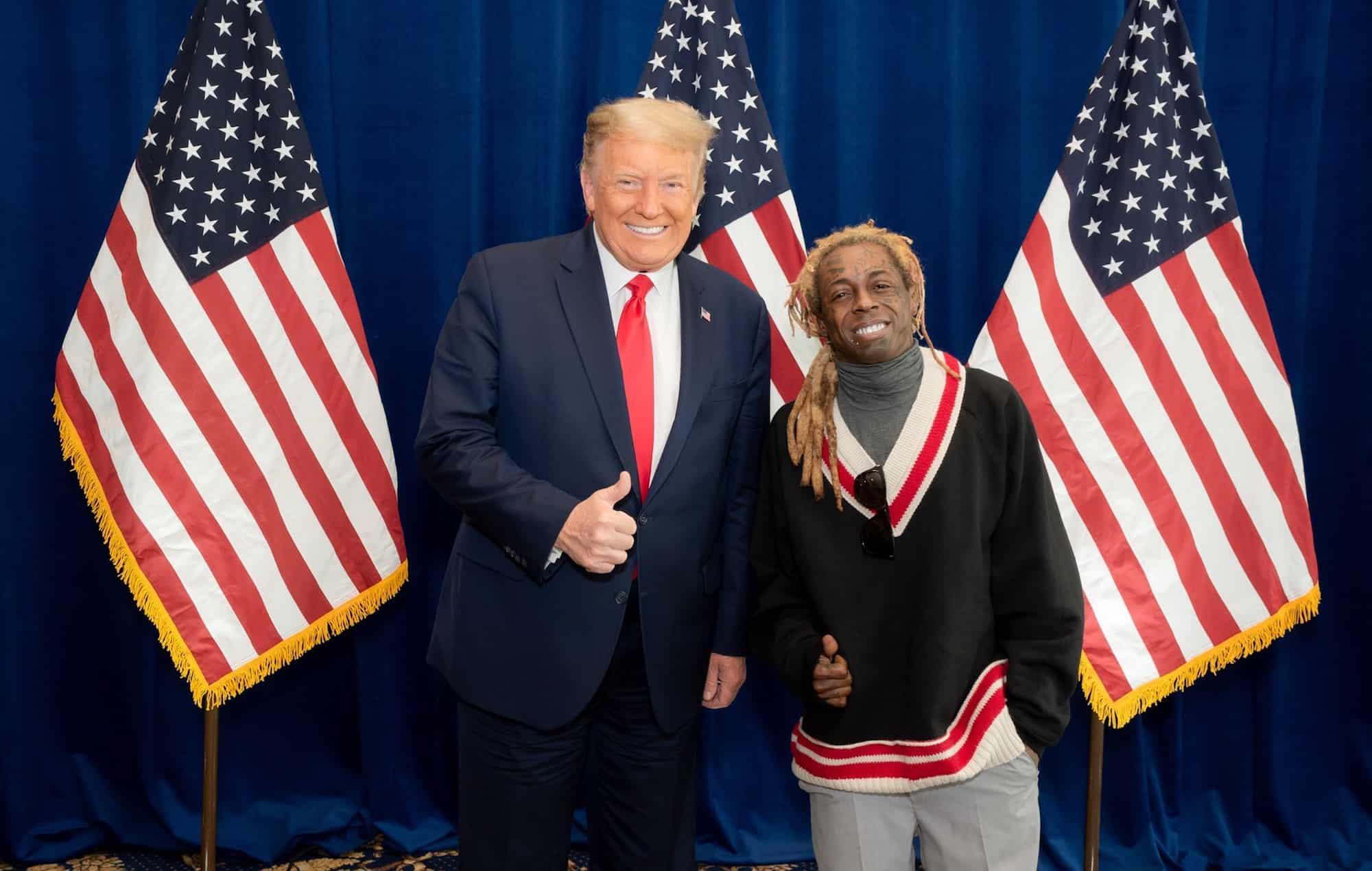 Donald Trump And Lil Wayne. Source: MNE