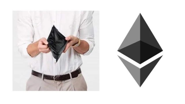 Ethereum Logo Compared With An Empty Wallet. Source: Twitter
