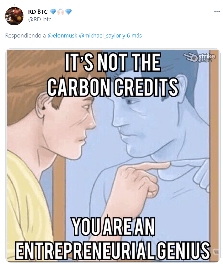 One of the replies to Elon's tweets.