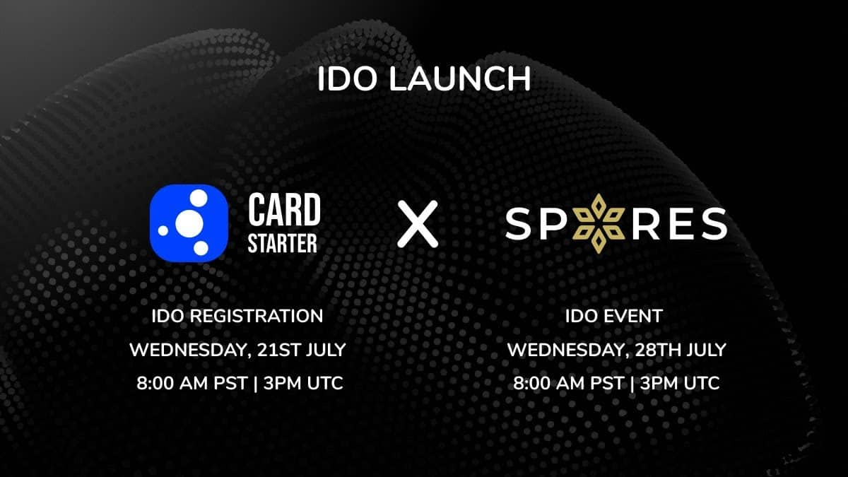 Spores Network to Kick Off Cardstarter IDO on July 21st
