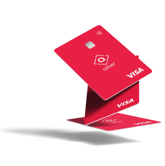 A Visa card from the brazilian Bitcoin Bank Alter. Image: Alter Bank