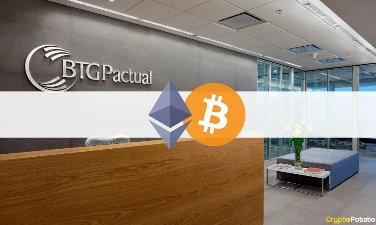 Major Brazilian Bank BTG Pactual to Offer Investment Options in Bitcoin and Ethereum