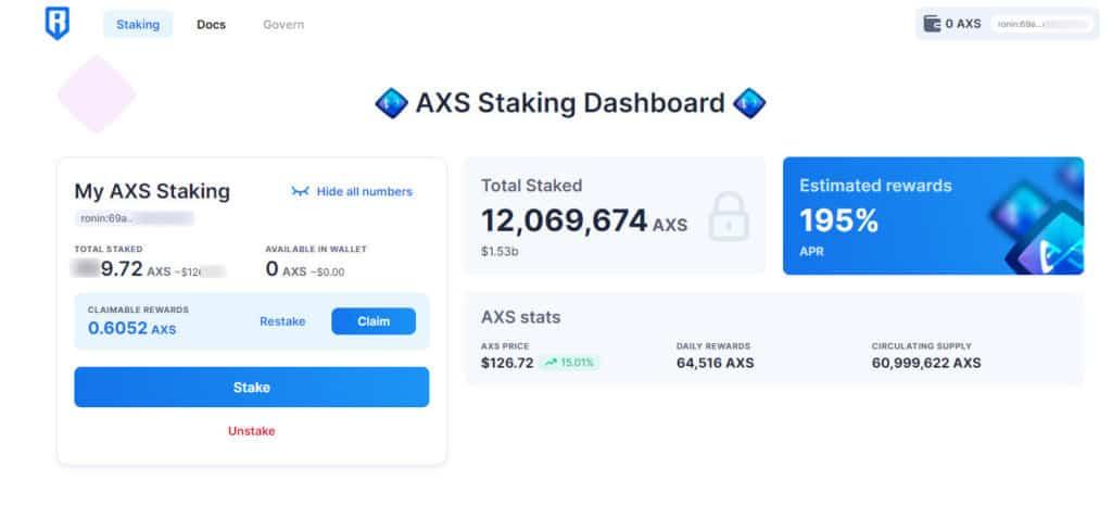 axs-staking-dashboard