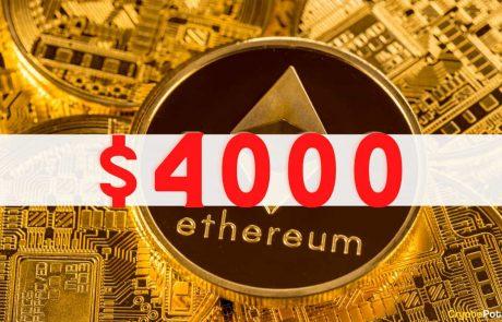 Ethereum (ETH) Skyrockets Above $4000 Just One Week After Breaking $3K