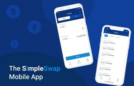SimpleSwap Released a Mobile App for Cryptocurrency Exchanges