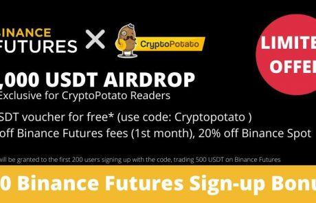 CryptoPotato & Binance Futures Launch 10,000 USDT Airdrop: 50 USDT Free Voucher For Sign-Ups (Exclusive)