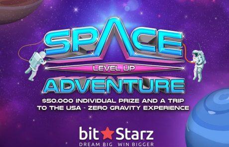 Zero Gravity Experience and 50K Prizes in BitStarz Space Level Up Adventure