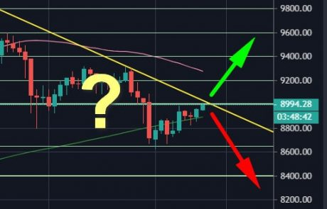 Bitcoin Price Analysis: Another Critical Decision Point – Can BTC Recover Above $9000?