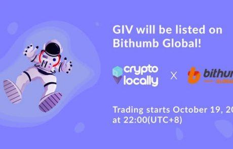 CryptoLocally Lists Native Token GIV On Bithumb Global